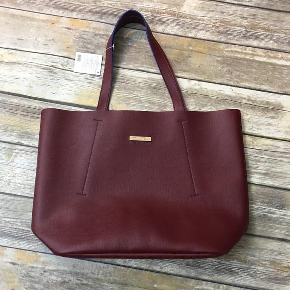 Rask Oscar de la Renta Bags | Nwt Fashion Tote Bag Burgundy | Poshmark NJ-19